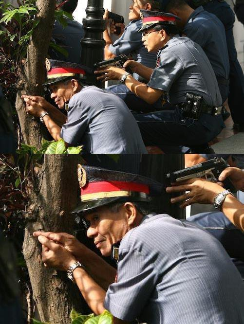 Police Man with Invisible Gun