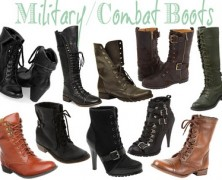 Combat Boots for Fashionable Youth