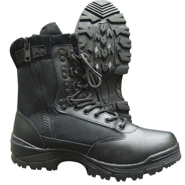 Tru Spec 4050 Side Zipper Black Military Boot