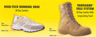 What is Vanguard Running Shoe Construction?