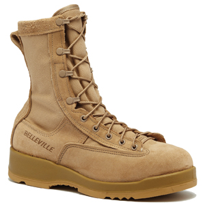Belleville 330 DES ST Tan Hot Weather Steel Toe Flight Boot 