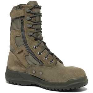 Belleville 610 Z ST Hot Weather Tactical Side Zip Safety Toe Boot - USAF