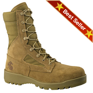 Belleville 550 ST USMC Hot Weather Steel Toe Boots, Belleville Tan Desert Infantry Boots