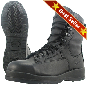 Wellco B251 Navy Flight Deck Steel Toe Boot, Wellco Black Navy Flight Aviator Safety Toe Boots