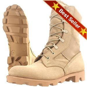  Wellco T130 Jungle Hot Weather Combat Boots, Wellco Tan Desert Vietnam Jungle Combat Boots